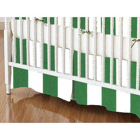 Sheetworld Crib Skirt Forest Green Stripe Walmart Com