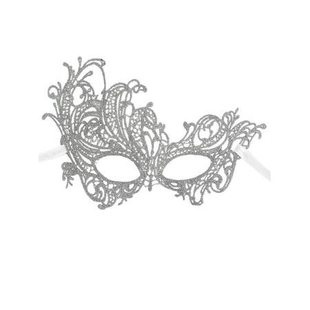 Women's Mythical Goddess Lace Phoenix Masquerade Mask, Silver - Halloween Club Masquerade Masks