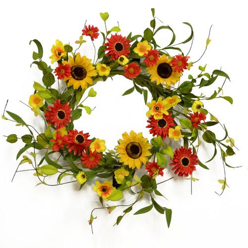 Floral Home Decor 20'' Silk Wreath