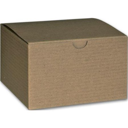 Deluxe Small Business Sales 250-050503C-8 3 x 5 x 5 in. One-Piece Gift Boxes, - Kraft Boxes