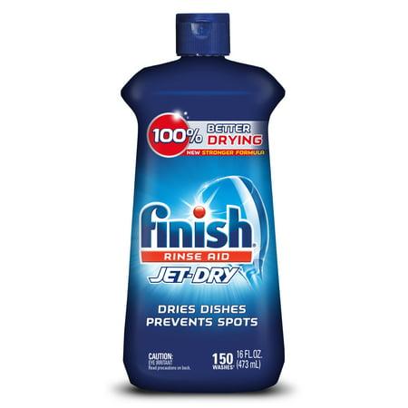 - Finish Jet-Dry Rinse Aid, 16oz, Dishwasher Rinse Agent & Drying Agent