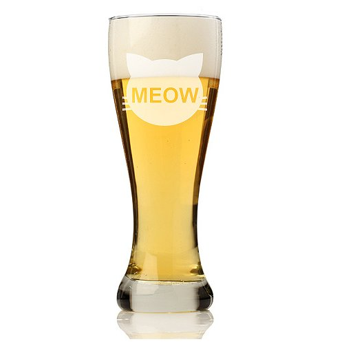 Chloe and Madison Cats Meow 16 oz. Pilsner Beer Glass (Set of 4)