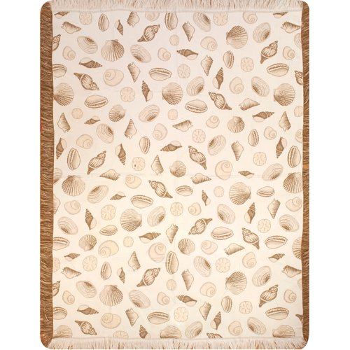 Manual Woodworkers & Weavers Seashells Throw