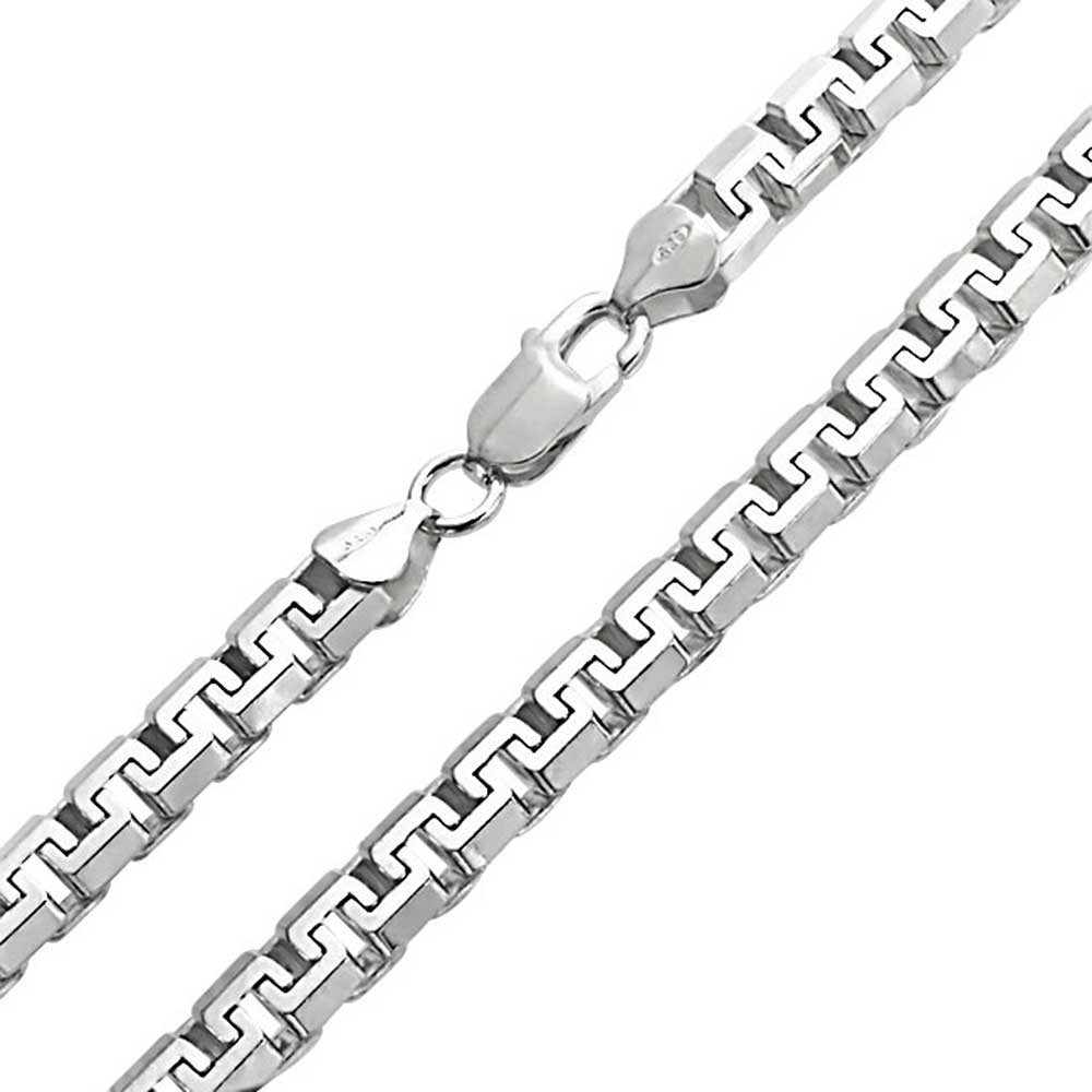 Bling Jewelry Mens Sterling Silver Square Link Unisex Chain Necklace 20in