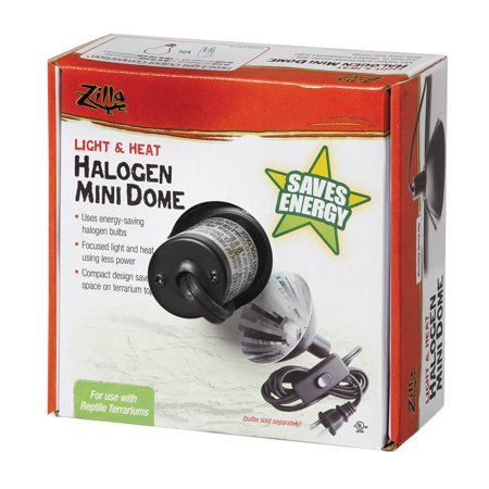 Zilla Mini Halogen Heating and Lighting Dome for (Hagen Reptile Lamp)