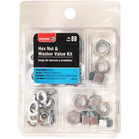 Bulldog Hardware Hex Nut Washer Value Kit