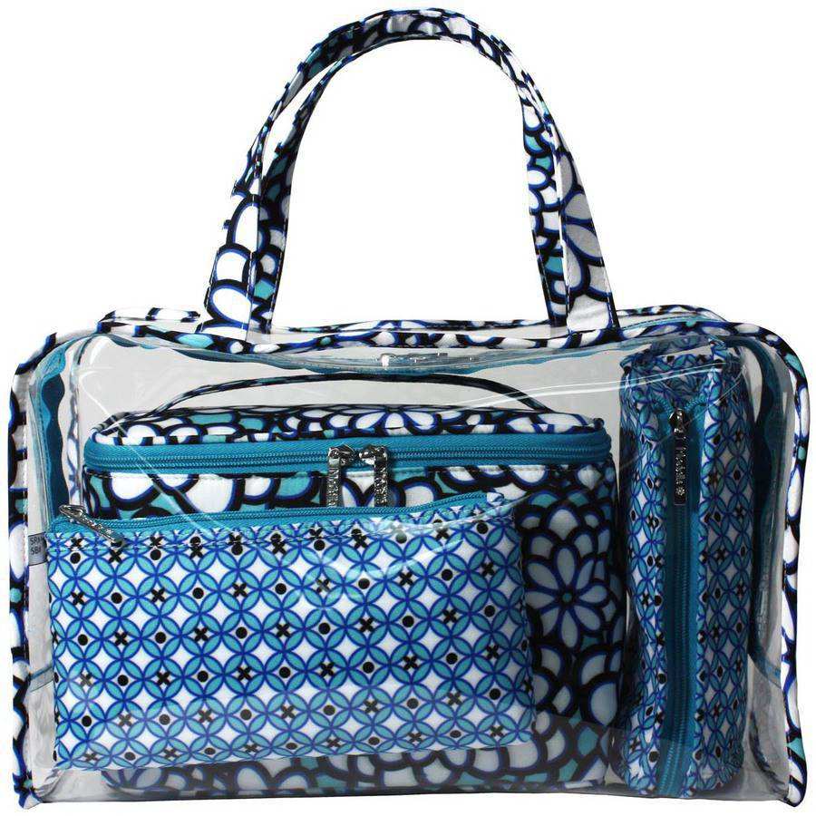 Modella Stained Glass Weekender Travel Bag Set, 4 pc