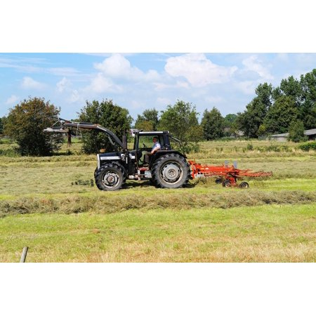 LAMINATED POSTER Tractors Cattle Feed Agriculture Steam Haymaking Poster Print 24 x 36 ()