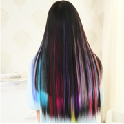 Onedor 23 inch straight colored party highlight clip on in hair onedor 23 inch straight colored party highlight clip on in hair extensions multiple colors image 3 pmusecretfo Choice Image