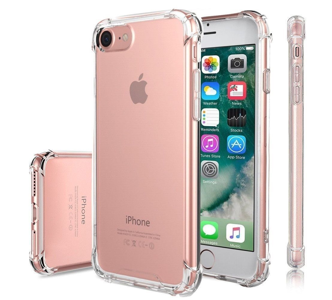 For Apple iPhone Premium Crystal Clear TPU Bumper Case For iPhone: 8 Plus