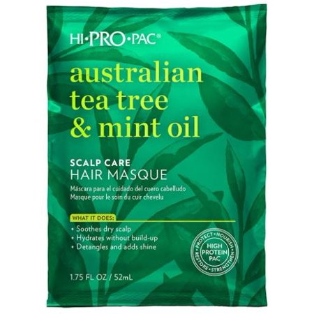 Hi-Pro-Pac Hair Mask, Australian Tea Tree & Mint Oil Scalp Care Hair Masque, 1.75 (Hair Care Mitt)