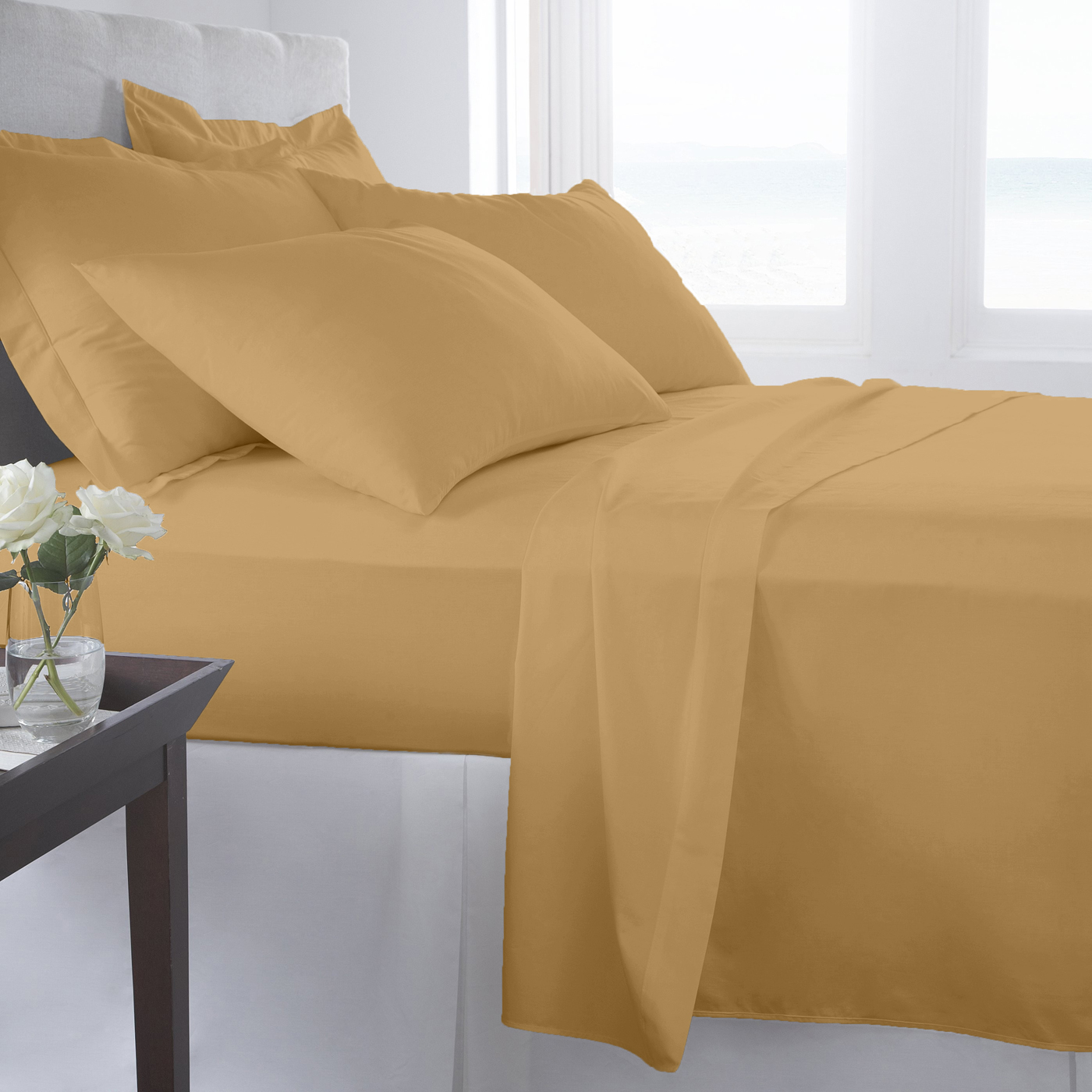 Supreme Super Soft 3 Piece Bed Sheet Set Deep Pocket Bedding - Twin Size Ivory