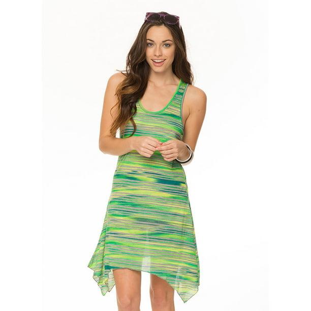 Lagaci Women's Hello Mona Super Soft Racerback Tank Dress, Green