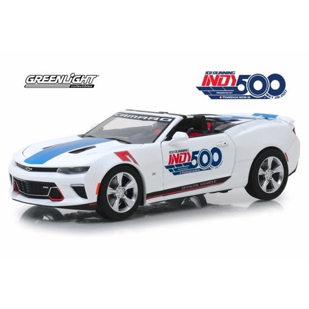 2017 Chevy Camaro SS Convertible, 101 Running Indy 500 Presented by PennGrade Motor Oil 500 Festival Event Car - Greenlight 18247 - 1/24 Scale Diecast Model Toy Car Indy 500 Racers