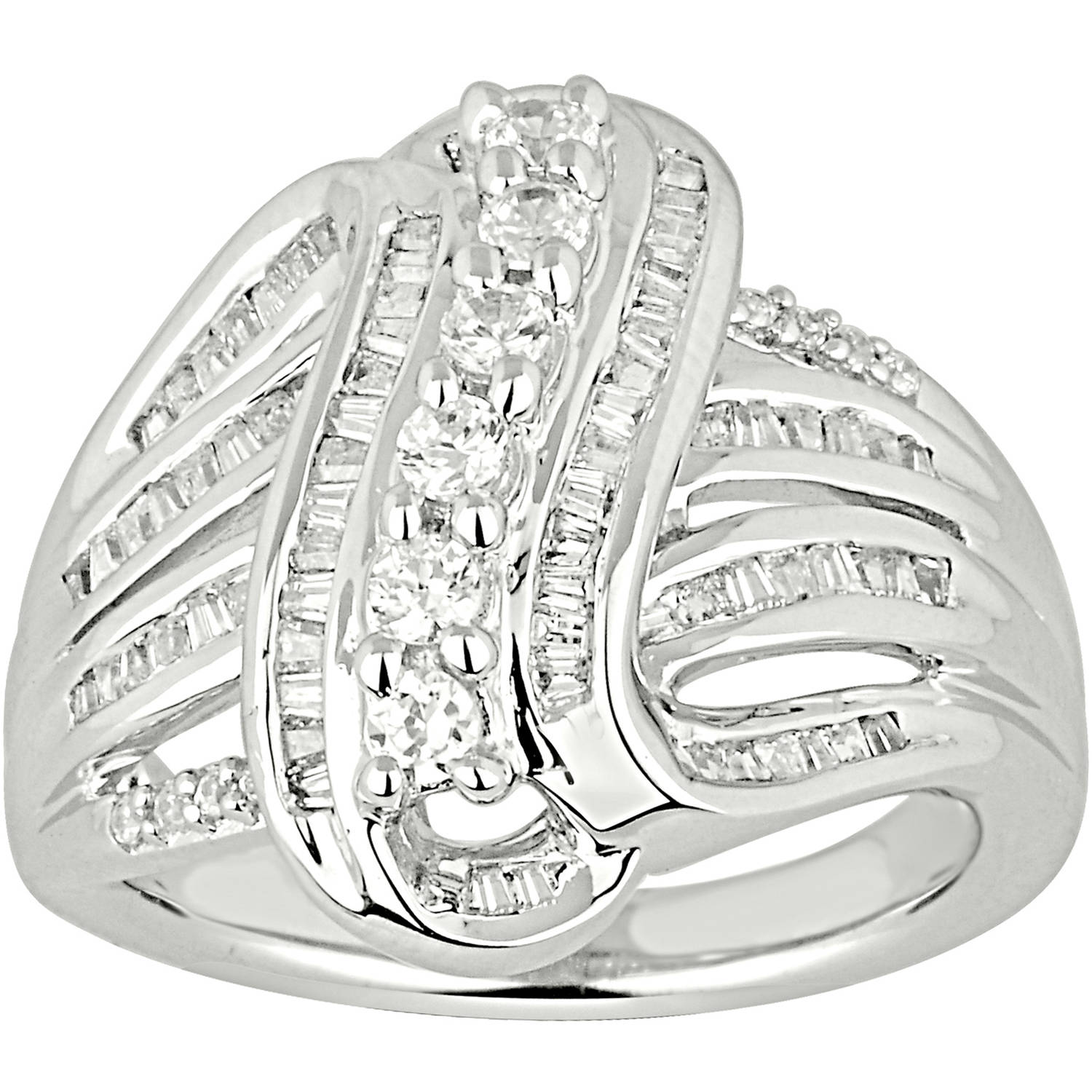 1 Carat T.W. Diamond 10kt White Gold Right-Hand Ring