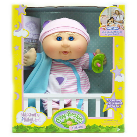 Cabbage Patch Kids Twin (Cabbage Patch Kids Naptime Babies Doll, Bald/Blue Eye Girl )