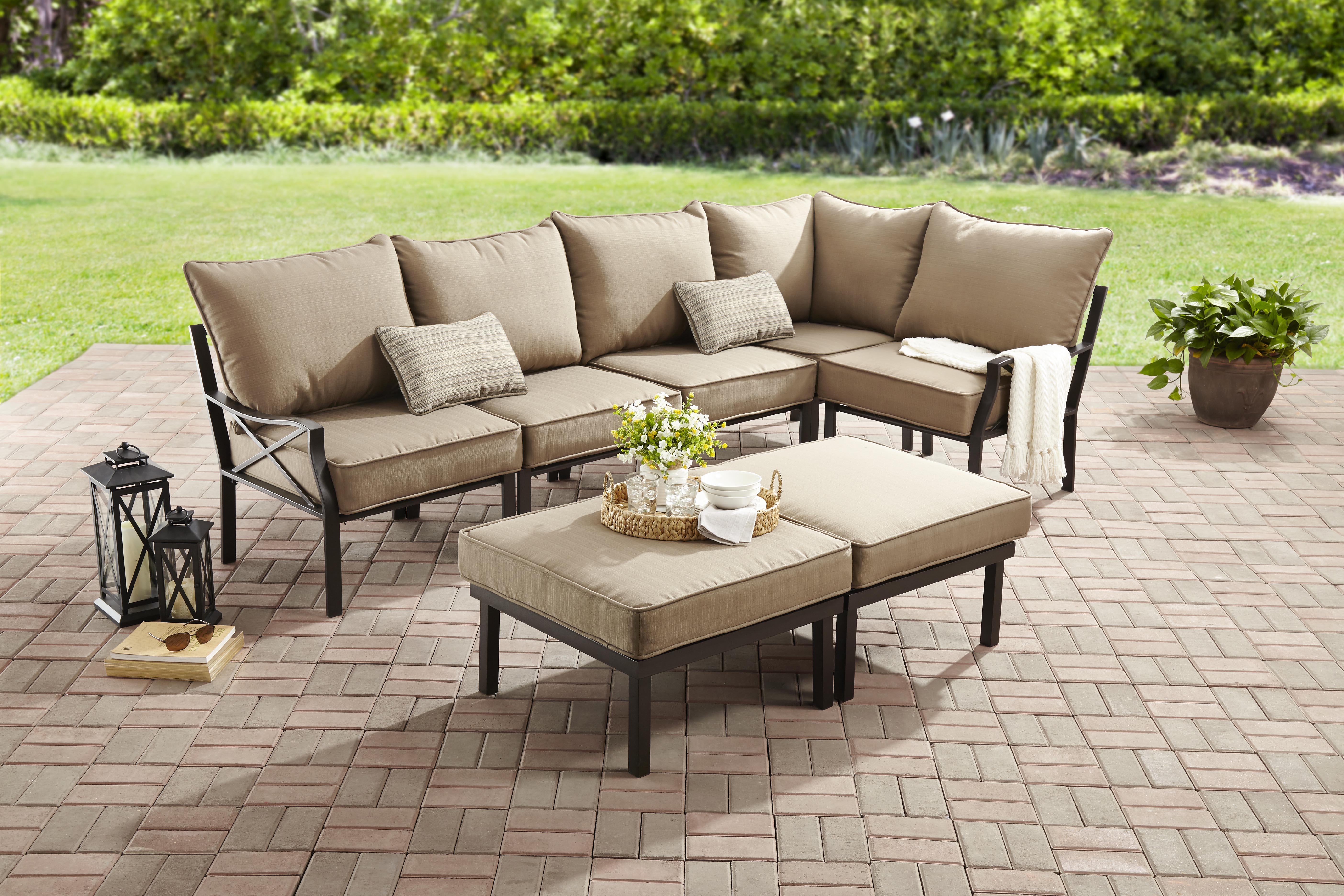 devonport 4 piece wicker patio conversation furniture set. mainstays sandhill 7-piece outdoor sofa sectional set, seats 5 devonport 4 piece wicker patio conversation furniture set