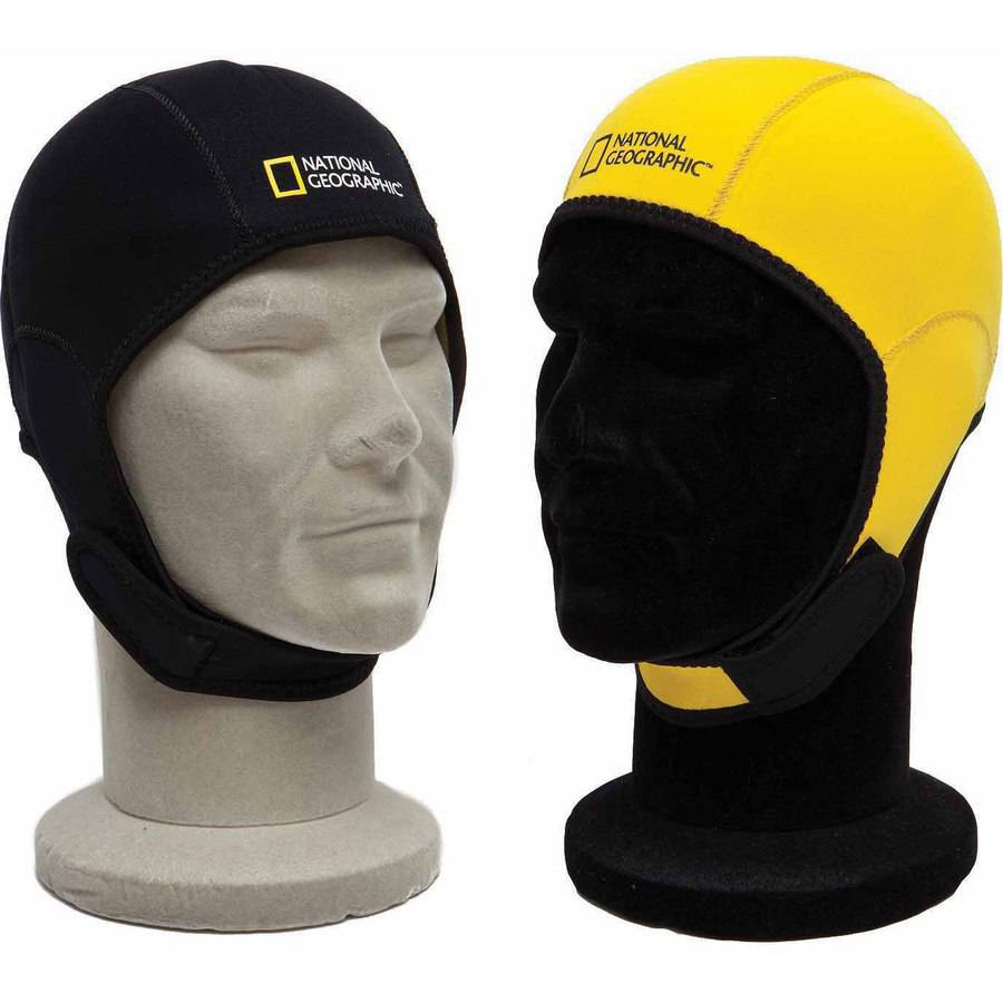 National Geographic Snorkeler Reversible Beanie Hood, Black to Yellow