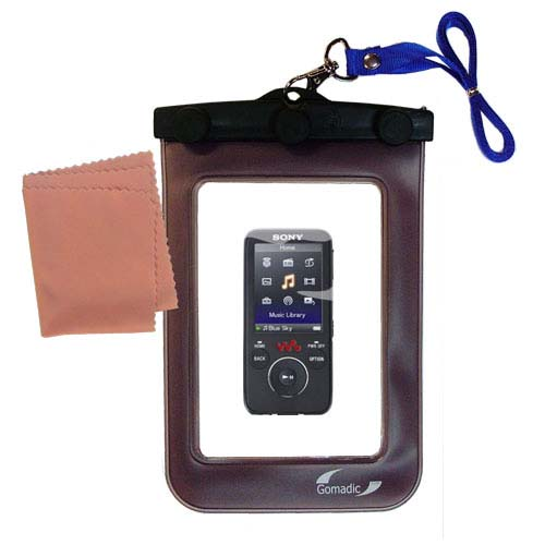 Gomadic Clean and Dry Waterproof Protective Case Suitablefor the Sony Walkman NWZ-E435F to use Underwater