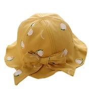 nomeni Kids Summer Bow Fruit Sun Princess Protection Bucket Hat Sunscreen Cap