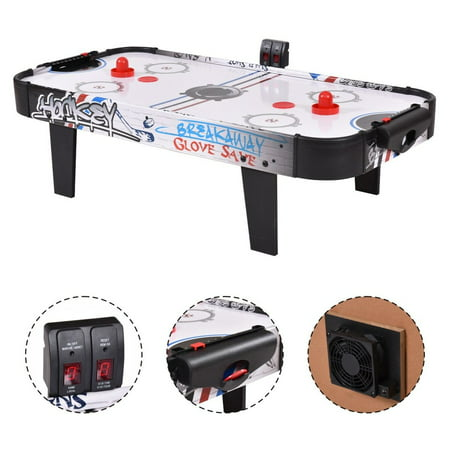 Costway 42''Air Powered Hockey Table Game Room Indoor Sport Electronic Scoring 2 (Power Air Hockey)