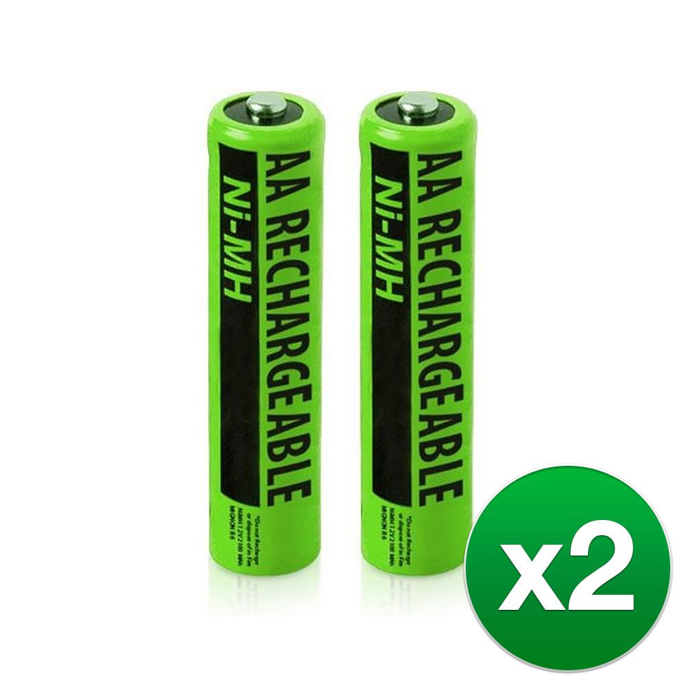 Replacement Panasonic KX-TGA402 NiMH Cordless Phone Battery - 630mAh / 1.2v  (2 Pack) - Walmart.com