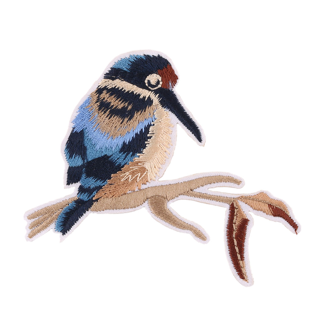 Unique Bargains Household Polyester Bird Pattern Embroidery Handicraft DIY Coat Lace Applique