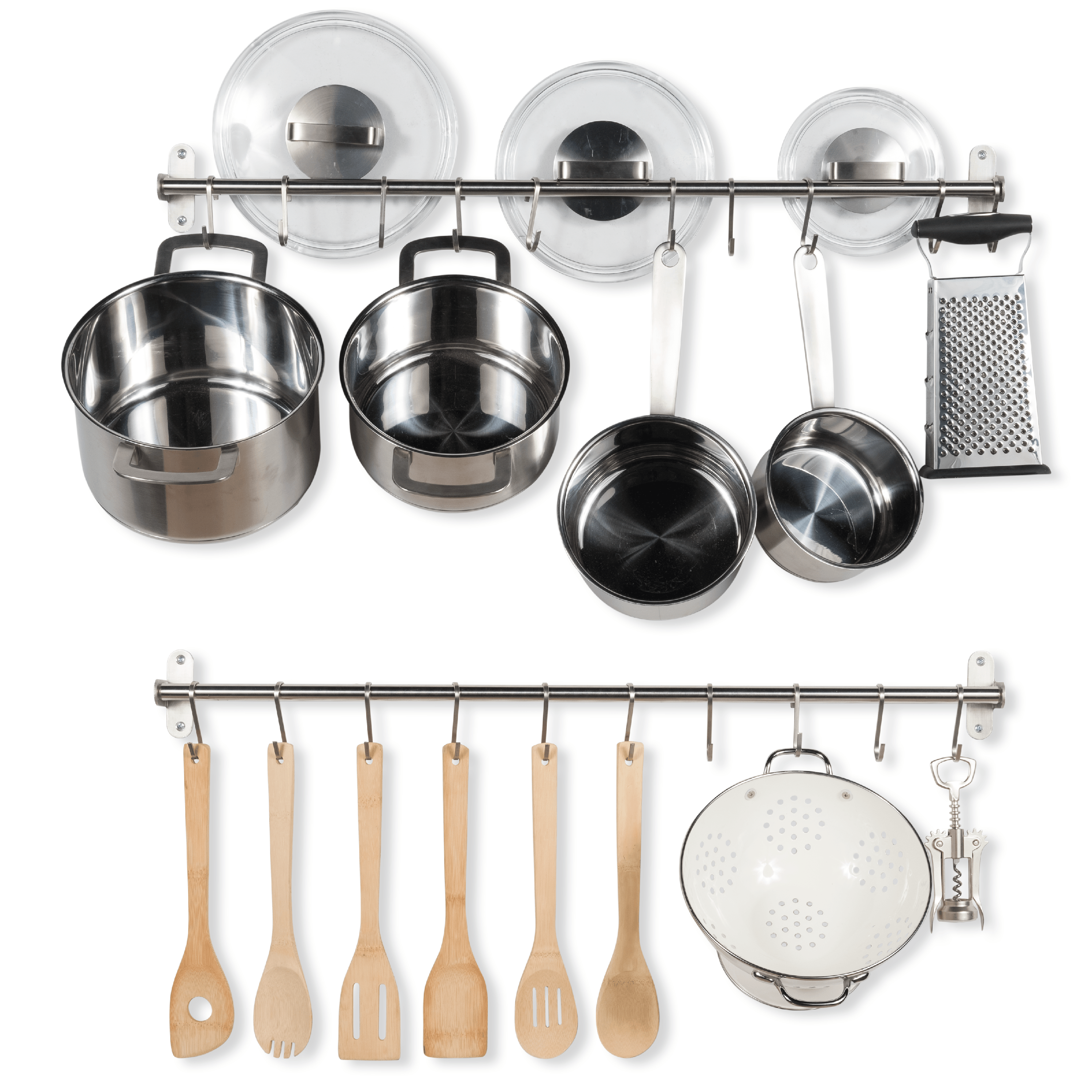 Stainless Steel Gourmet Kitchen Wall Mount Rail By
