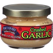 Racconto Italian Foods Crushed Garlic, 4.25 oz, (Pack of 12)