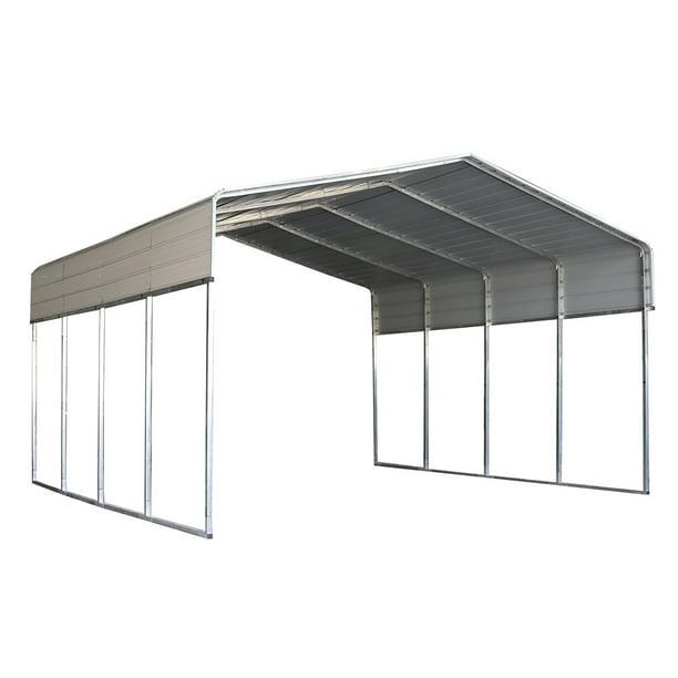 ALEKO CPM12X20WH Galvanized Steel Carport and Canopy ...