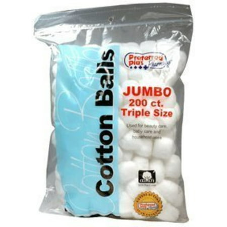 Preferred Plus Cotton Balls, Jumbo 200 ea
