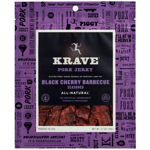 Krave Black Cherry Barbecue Seasoned Pork Jerky, 2.7 oz
