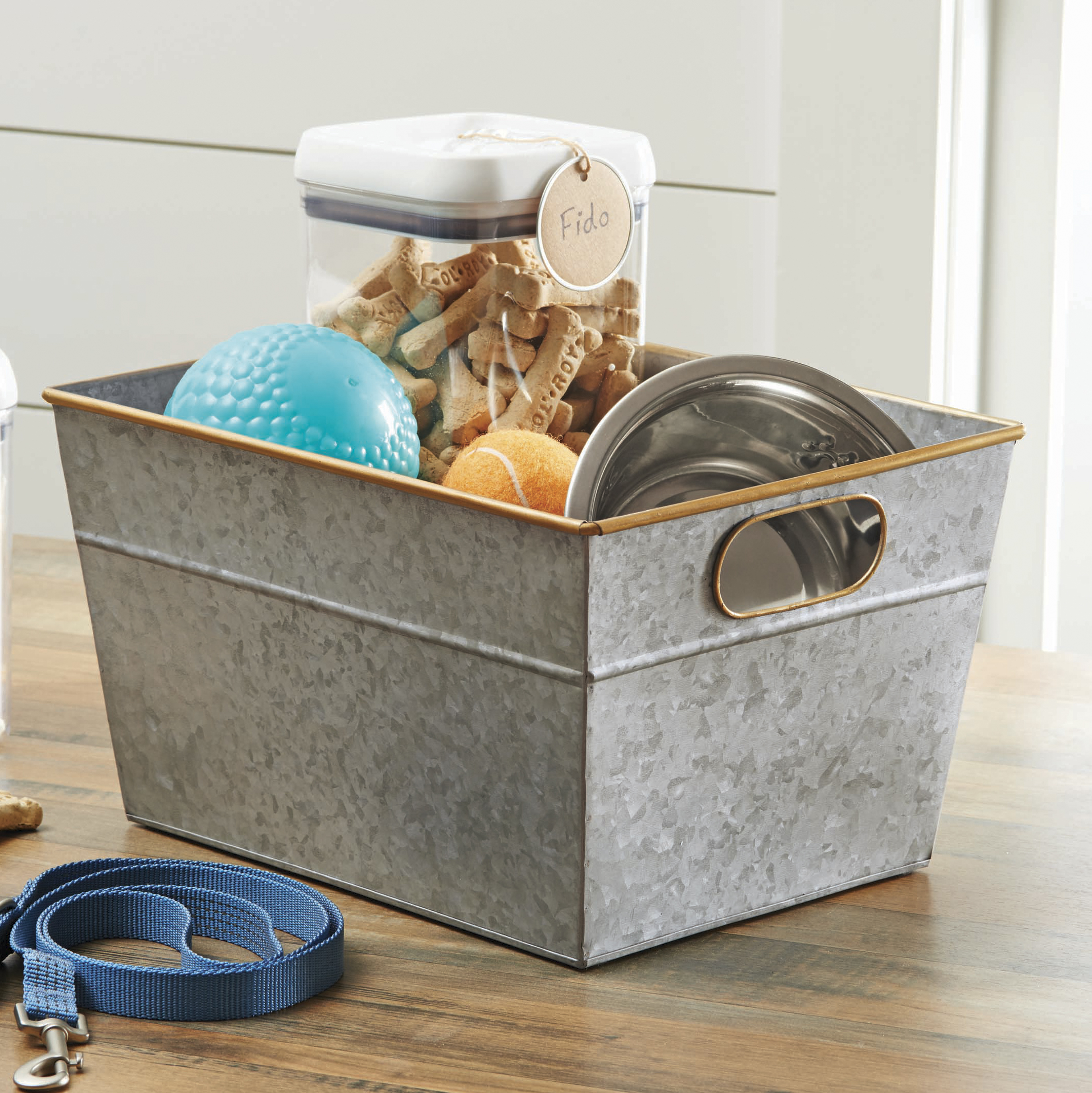 Better Homes & Gardens Medium Galvanized Bin
