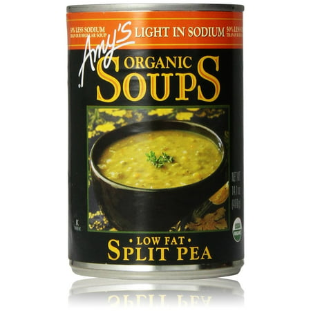 Amy's Organic Split Pea Soup, Light in Sodium, Low Fat, 14.1-Ounce Spring Pea Soup