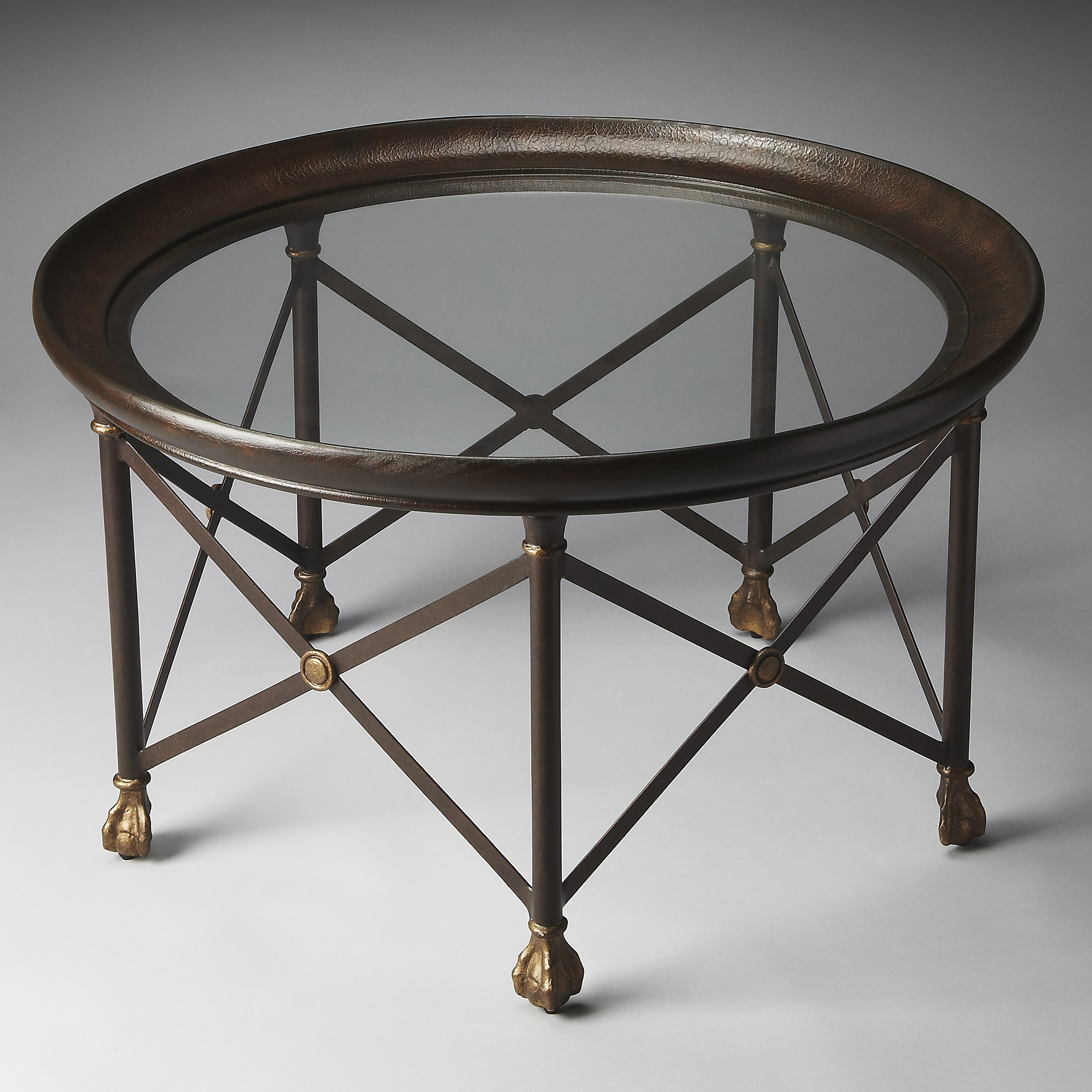 Butler Richton Glass And Metal Coffee Table   Metalworks