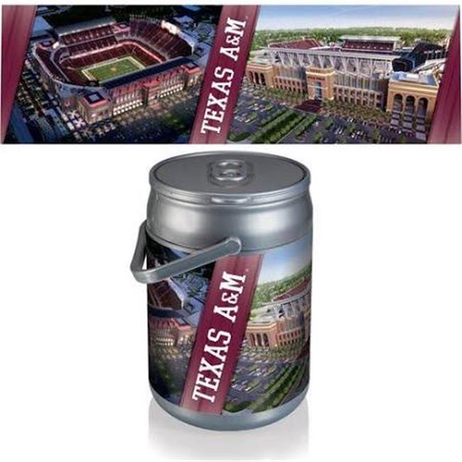 Picnic Time 690-00-000-566-0 Texas A&M Aggies PT Sports Can Cooler, Silver & Gray