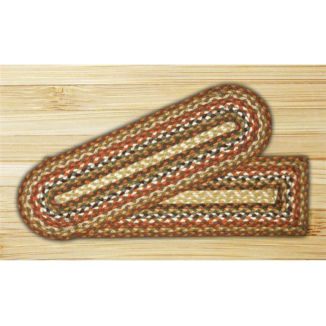 Earth Rugs 19-300 Honey-Vanilla-Ginger Oval Stair Tread