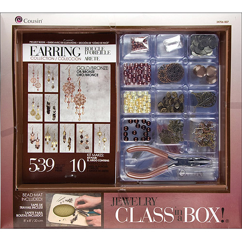 Cousin Jewelry Class in a Box Kit, Gold and Copper Earrings