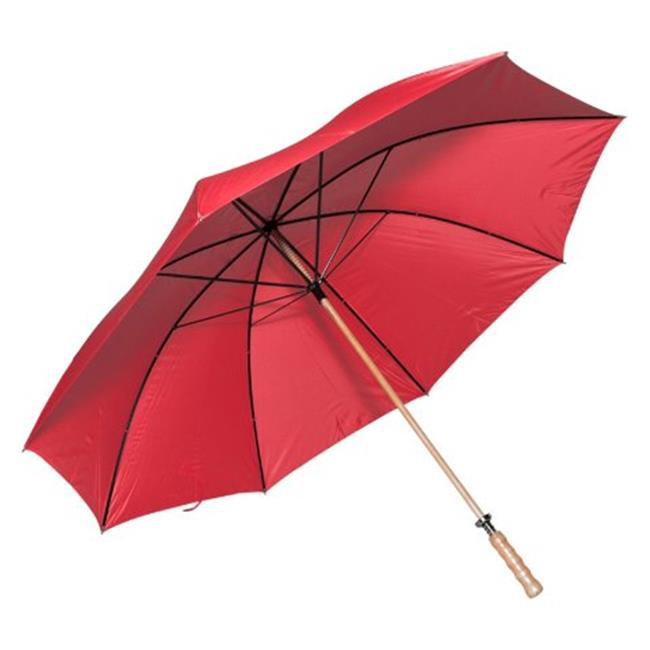 Elite Rain Frankford 2988WS-RD Wooden Shaft Golf Umbrella, Red