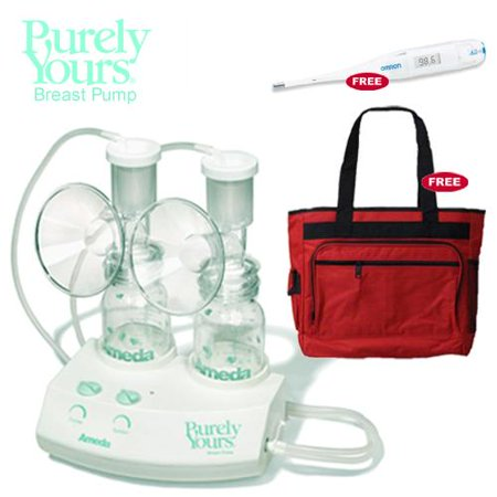 Image of Ameda 17070KIT1 Purely Yours Breastpump Combo 1 with Free Diaper Bag and Omro