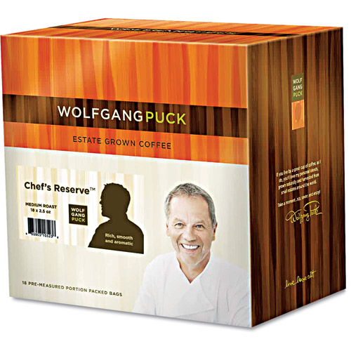 Wolfgang Puck Chef's Reserve Medium Roast Fractional Coffee Packs, 18 count