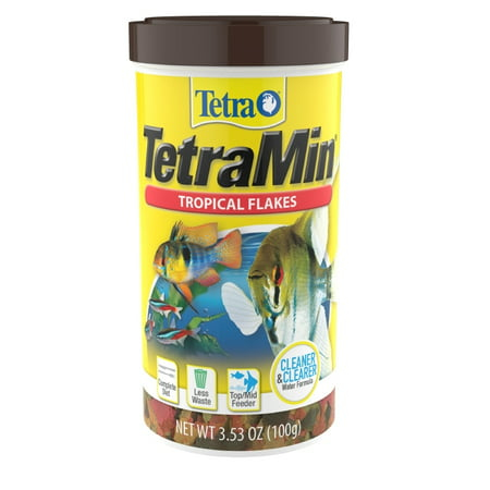 Tetra TetraMin Balanced Diet Tropical Fish Food Flakes, 3.53 oz