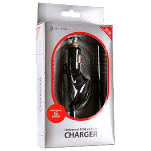 Delton Universal Car Charger & USB Port Works for Samsung M300/A460/R225/A850 (Black) - DPiUNiSamsung