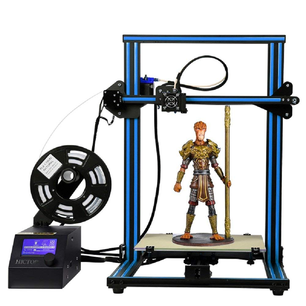 Creality CR-10S Semi-Assembled 3D Printer, Upgraded Dual Z Axis T Screw Rods, Filament Monitor, Resume Printing, Large Build Volume 400x400x400mm 15.8*15.8*15.8 inch