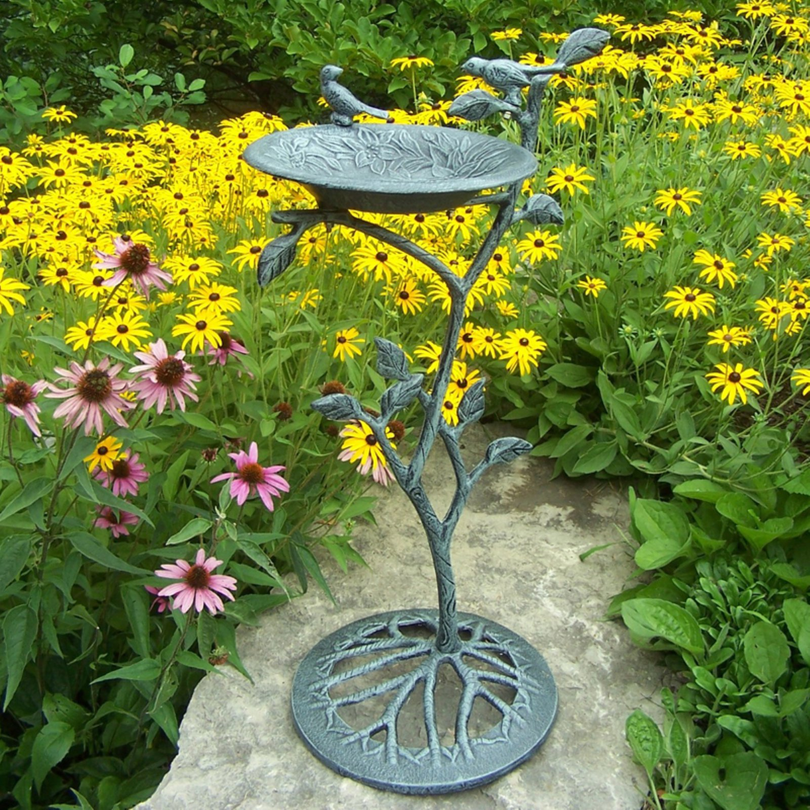 Oakland Living Meadow Birdbath Verdi Gray by Birdbaths