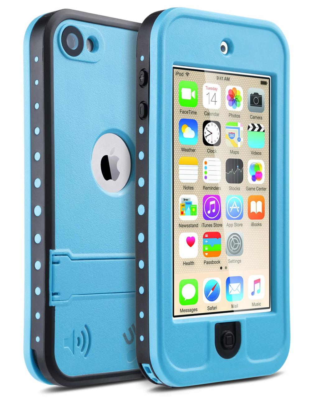 iPod 6 Case,iPod 5 Waterproof Case,ULAK Waterproof Dustproof Sweatproof with Kickstand Built-in ...