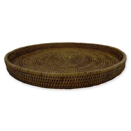Artifacts Trading Company Rattan Medium Round Tray 16' Diameter x 2' H ()
