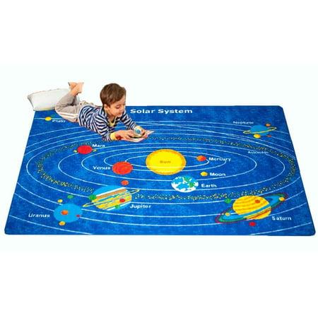 Kids Rug Solar System 5 X 7 Children Learning Carpet  59  X 82