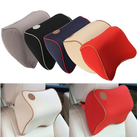 Memory Foam Car Office Seat Headrest Head Neck Rest Pillow Nursing Truck Parts Waist Cushion