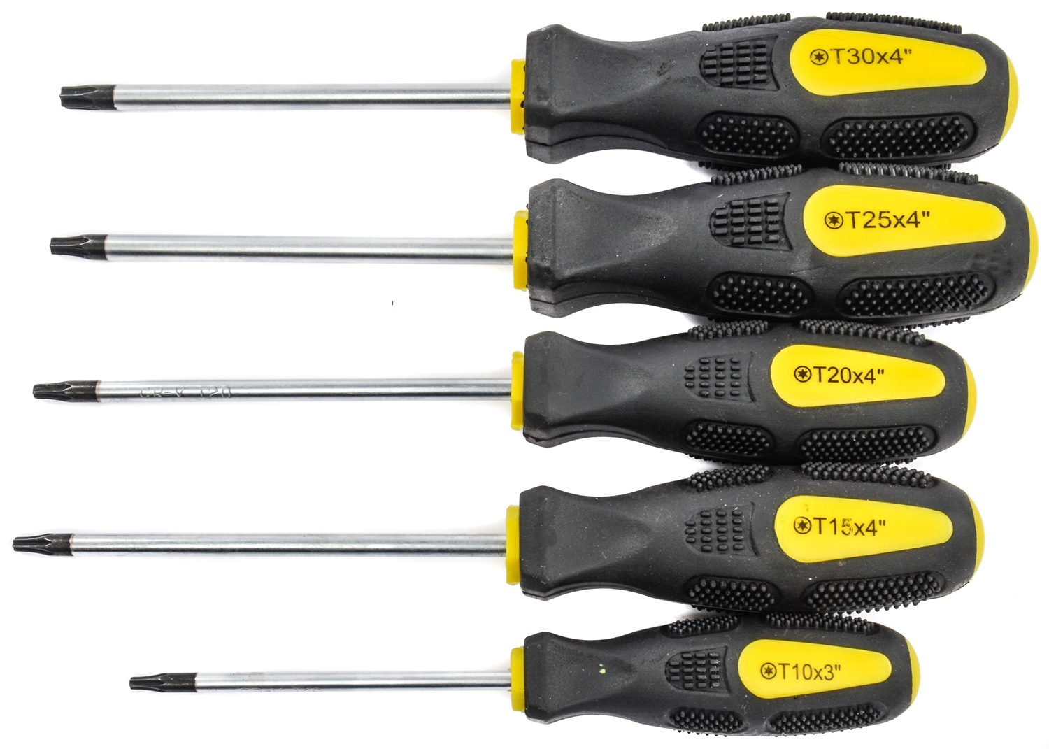 Set of 8 Cushion Grip screwdrivers - Professional Screwdriver Set Energy Efficiency Class A includes 4 flat-head screwdrivers and 4 Phillips screwdrivers